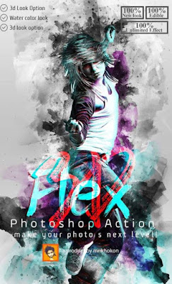 3D Flex Photoshop Action