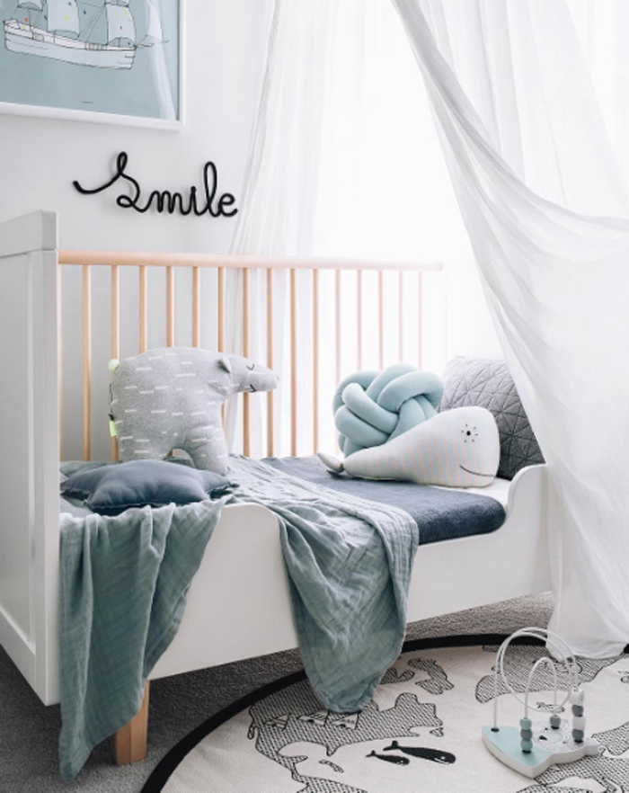 toddler room in modern blue