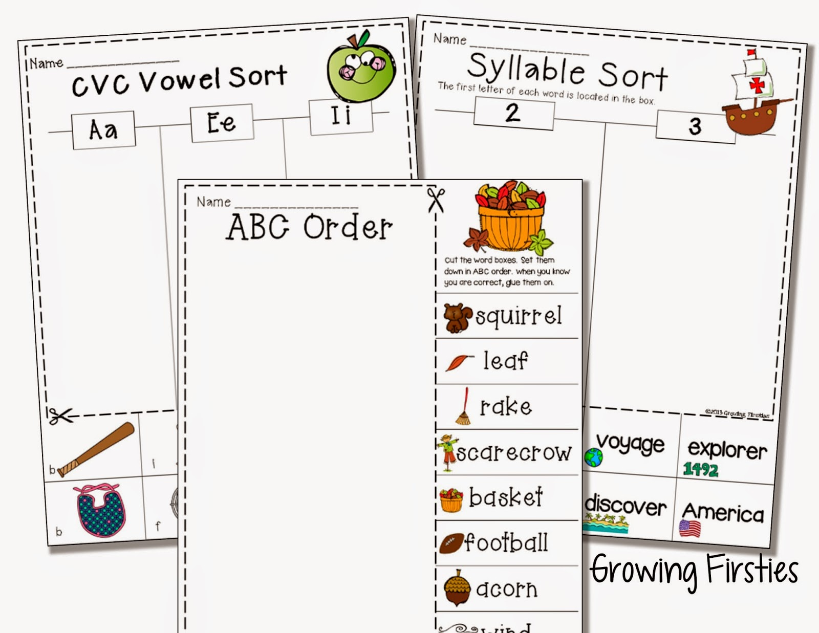Fall Freebies And Common Core Crunch