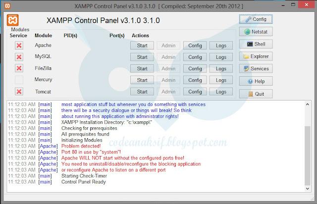 Cara Mudah Setting Port Xampp yang Error
