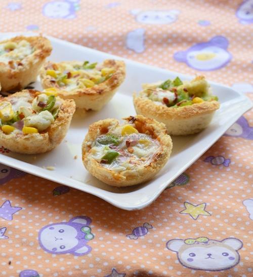Easy Bread Pizza Cups Recipe- Magic of Indian Rasoi - Priya R