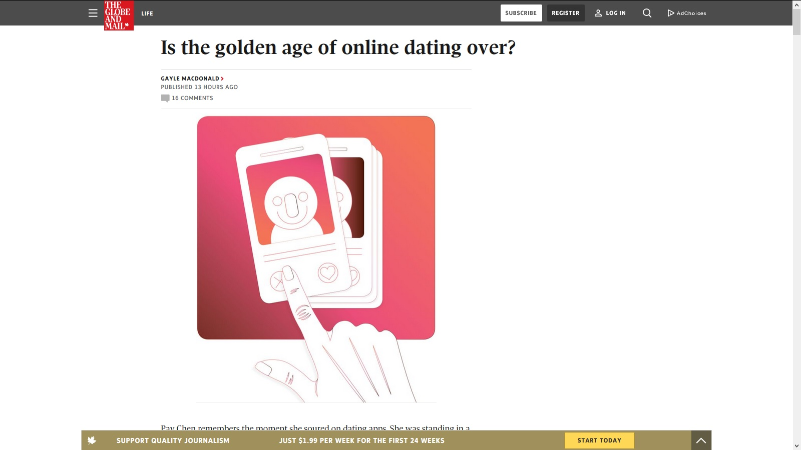 Blogs over online dating