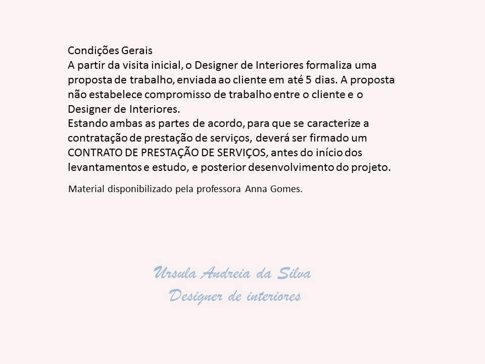Ursula Interiores Manual De Servicos Do Design De Interiores