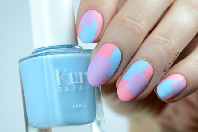 pastel colour block geometric nails furious filer