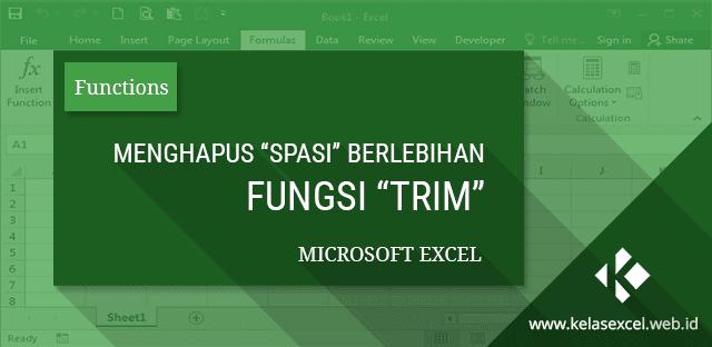 Fungsi TRIM untuk Menghapus Spasi Ganda dan berlebihan di Excel