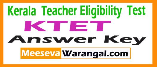 Kerala TET Answer Key 2018