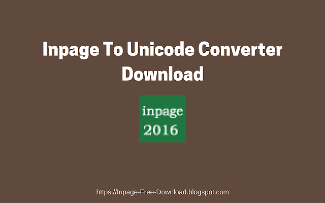 inpage-to-unicode-converter