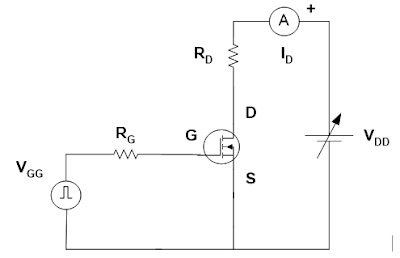 Rangkaian Percobaan kendali gate MOSFET dengan pulsa PWM