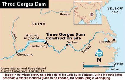 Cartina Climatica Cina.Tecnologia Centrale Delle Tre Gole Cina