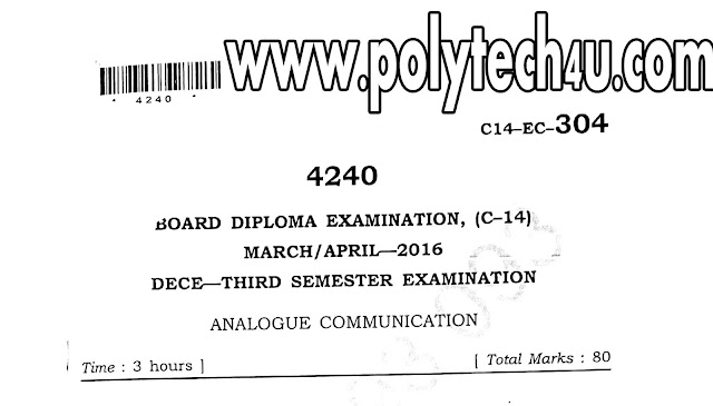 ECE ANALOGUE COMMUNICATION QP FREE DOWNLOAD C-14 MAR-APR-2016