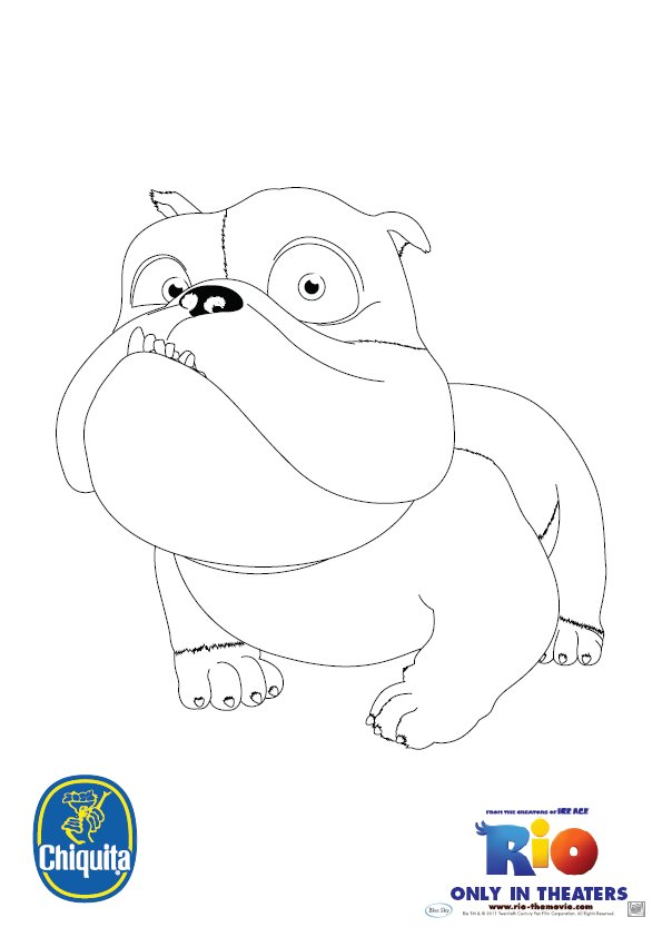 Coloring & Activity Pages: Luiz from
