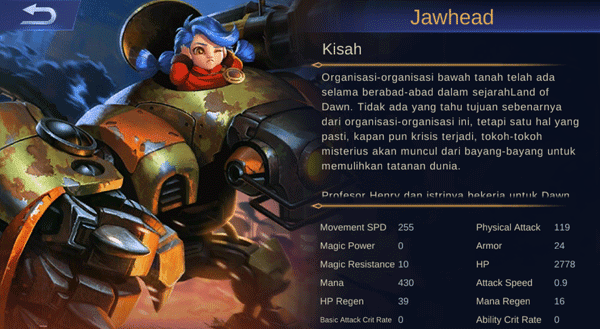 hero jawhead mobile legends