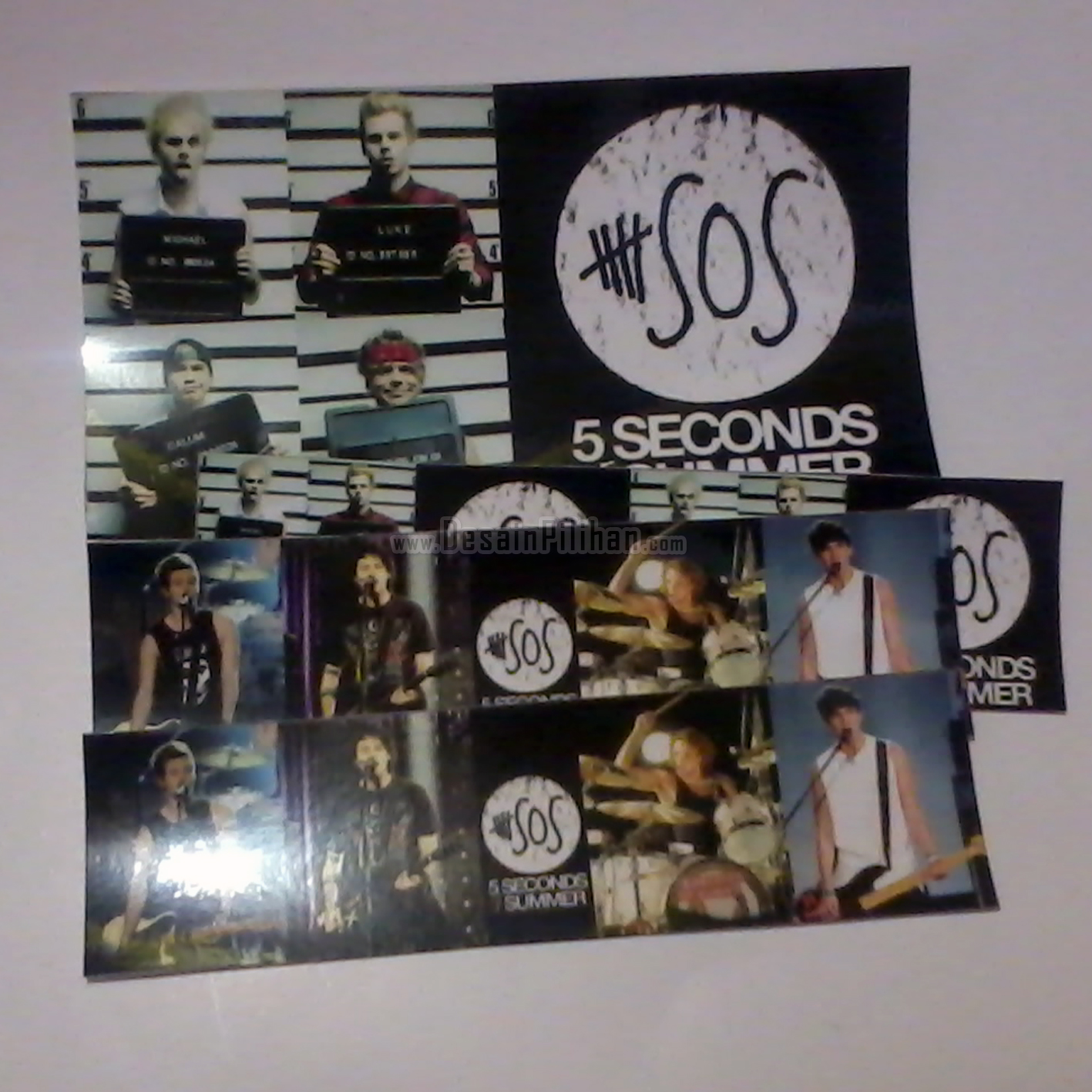 STICKER CUSTOM, STICKER SOS, STICKER 5 SECONDS SUMMER