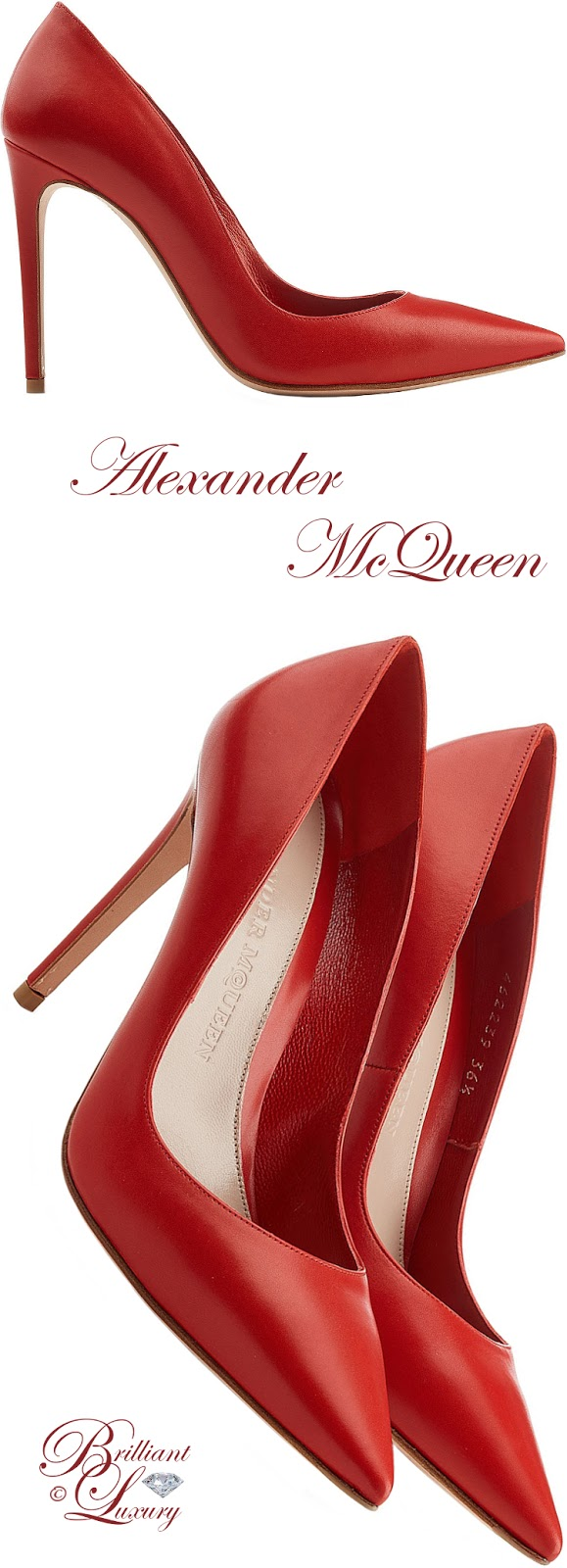 Brilliant Luxury ♦ Alexander McQueen leather pumps