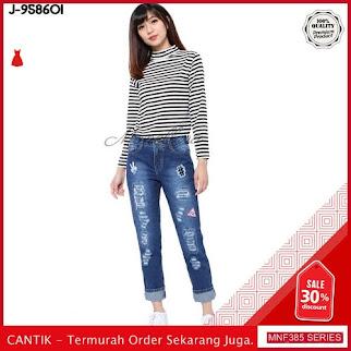 MNF385J92 Jeans 958601 Wanita Denim Ripped Boyfriend Jeans 2019 BMGShop