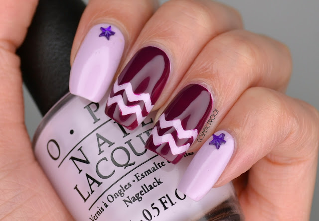 OPI Purple Nail Art