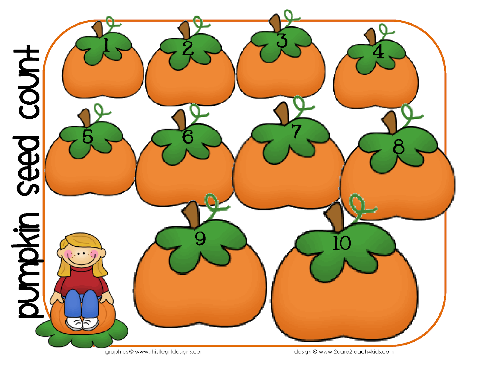 2care2teach4kids Pumpkin Picking Time A Patch Of Free