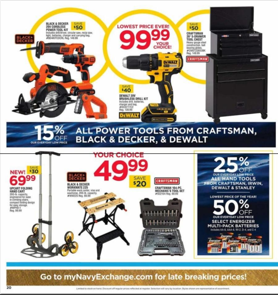 Navy Exchange Black Friday tools 2018 ad