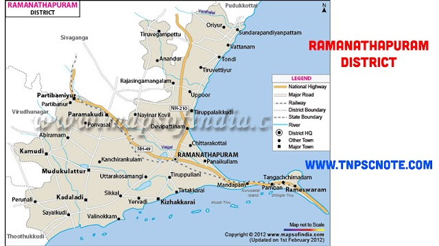 Ramanathapuram District Information, Boundaries and History from Shankar IAS Academy
