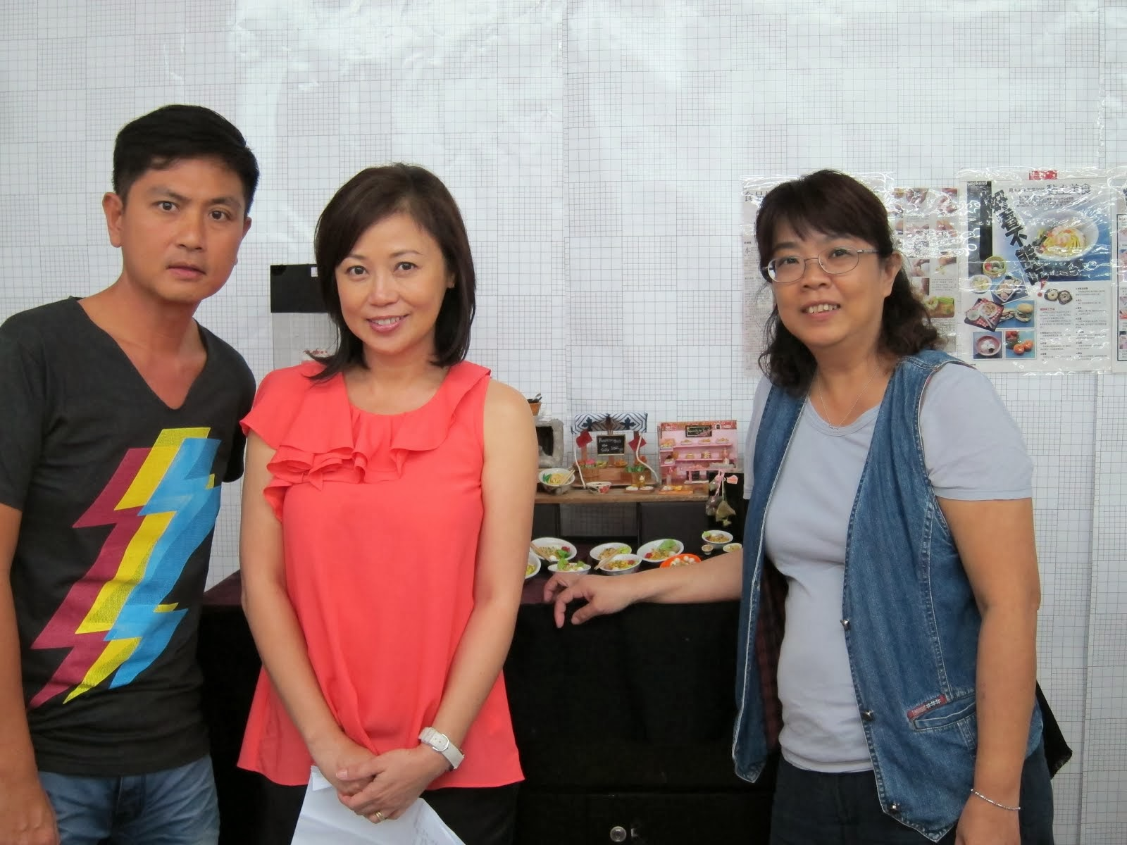 MediaCrop Actress Xiang Yun & actor Chew Chor Meng at My Miniatureworkshop