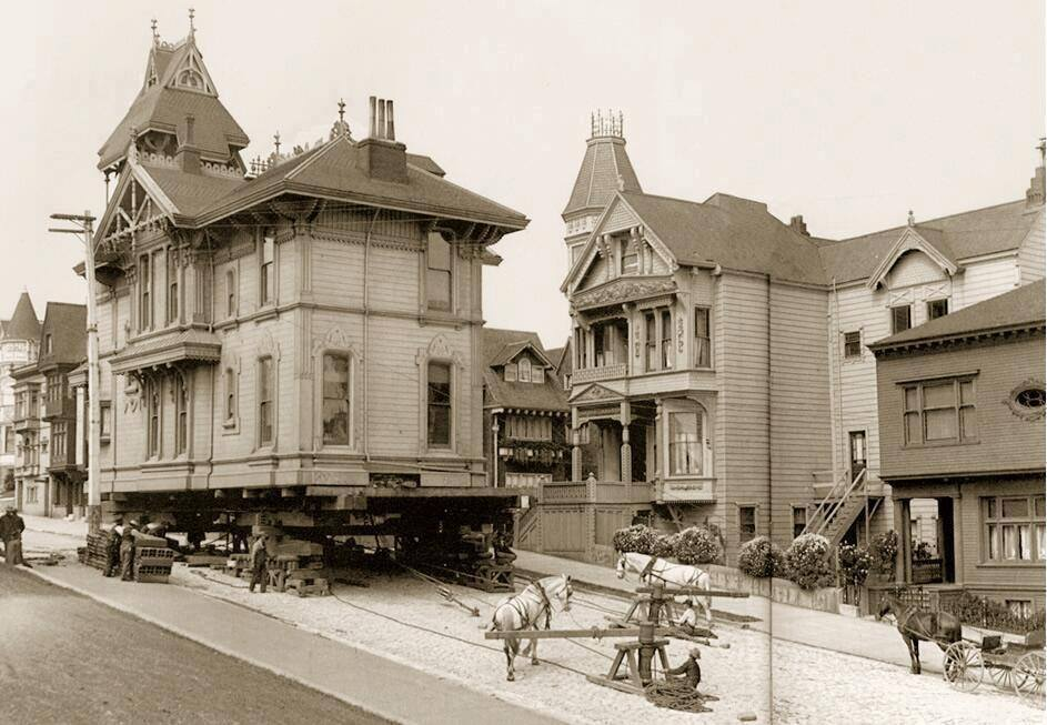 Moving A House In San Francisco 1908 Vintage Everyday