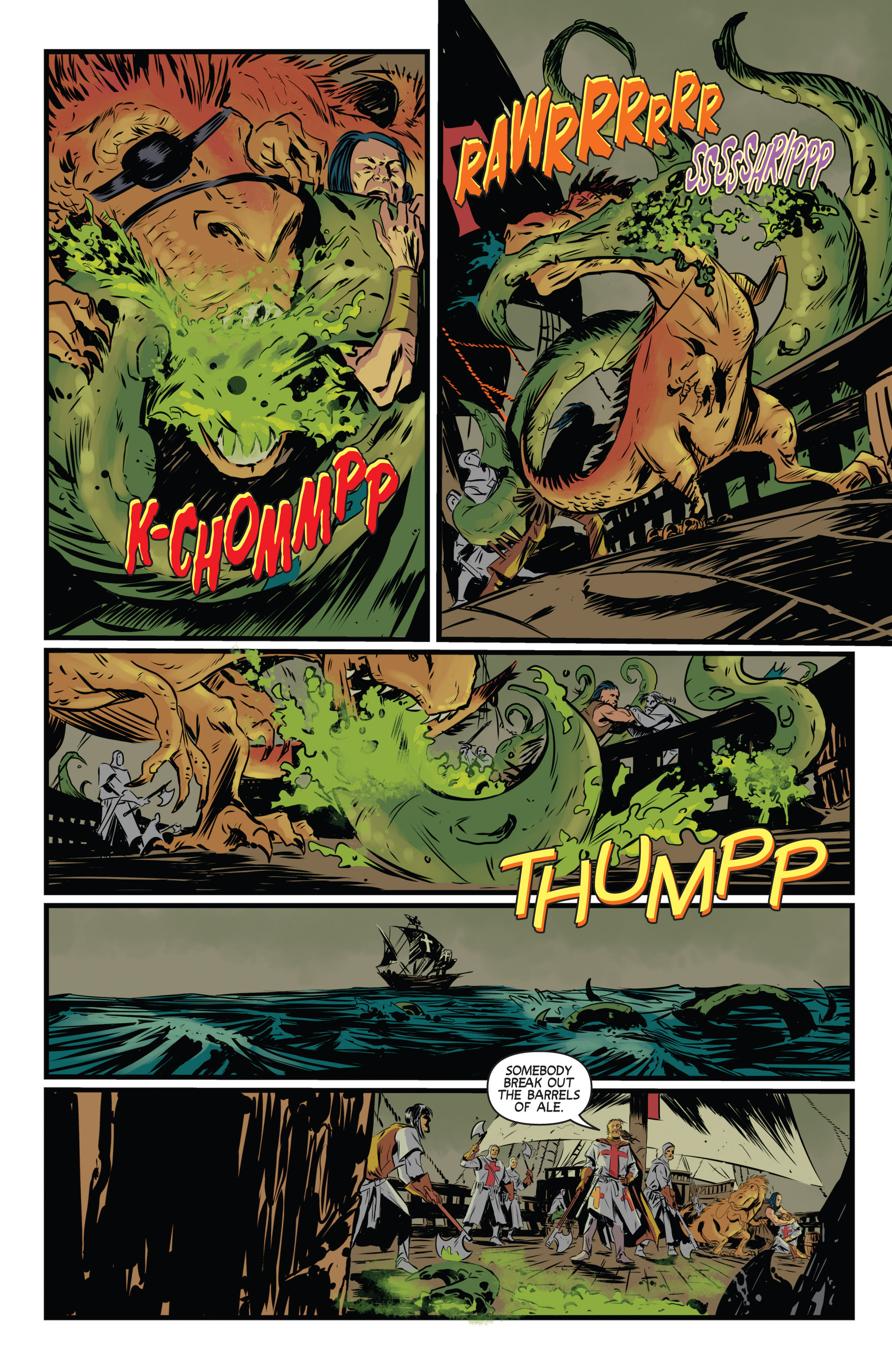 Read online Turok: Dinosaur Hunter (2014) comic -  Issue # _TPB 3 - 22