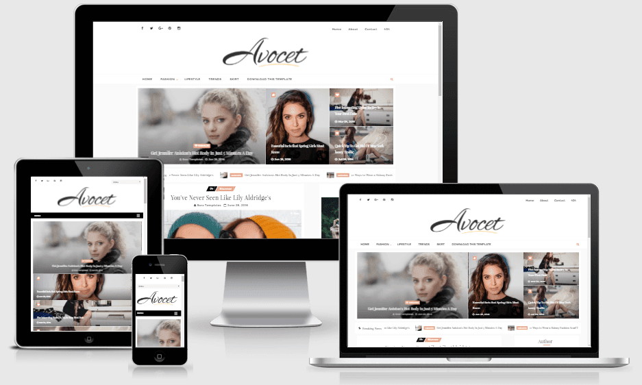 Download Avocet Responsive Minimalistic Blogger Template