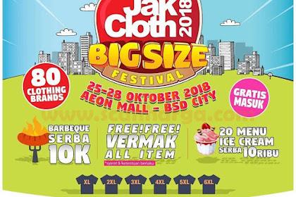 Jakcloth 2018 Terbaru | AEON MALL BSD CITY 25 - 28 Oktober 2018