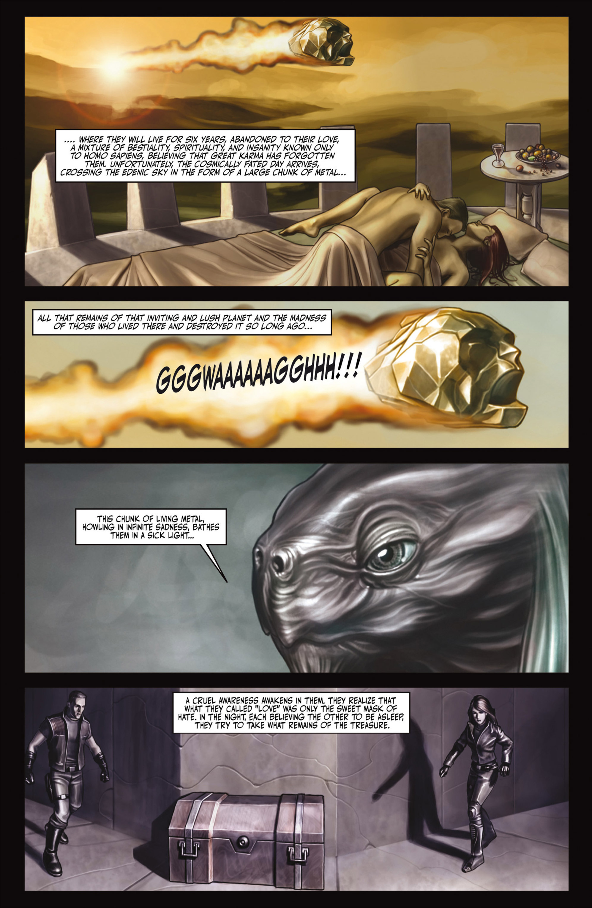 Read online Alejandro Jodorowsky's Screaming Planet comic -  Issue #2 - 31