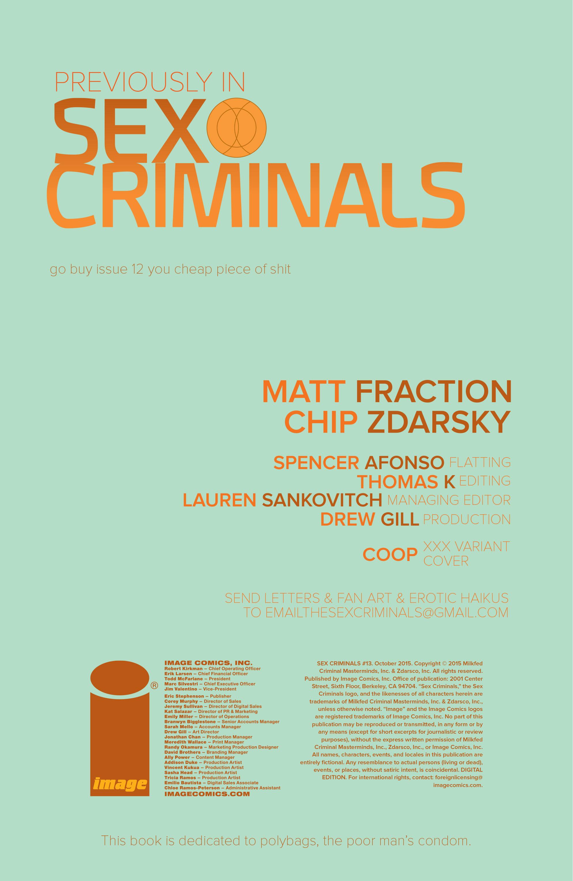 Read online Sex Criminals comic -  Issue #13 - 2