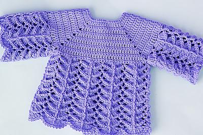4 - Crochet IMAGEN Chambrita rosa muy fácil y sencilla. MAJOVEL CROCHET
