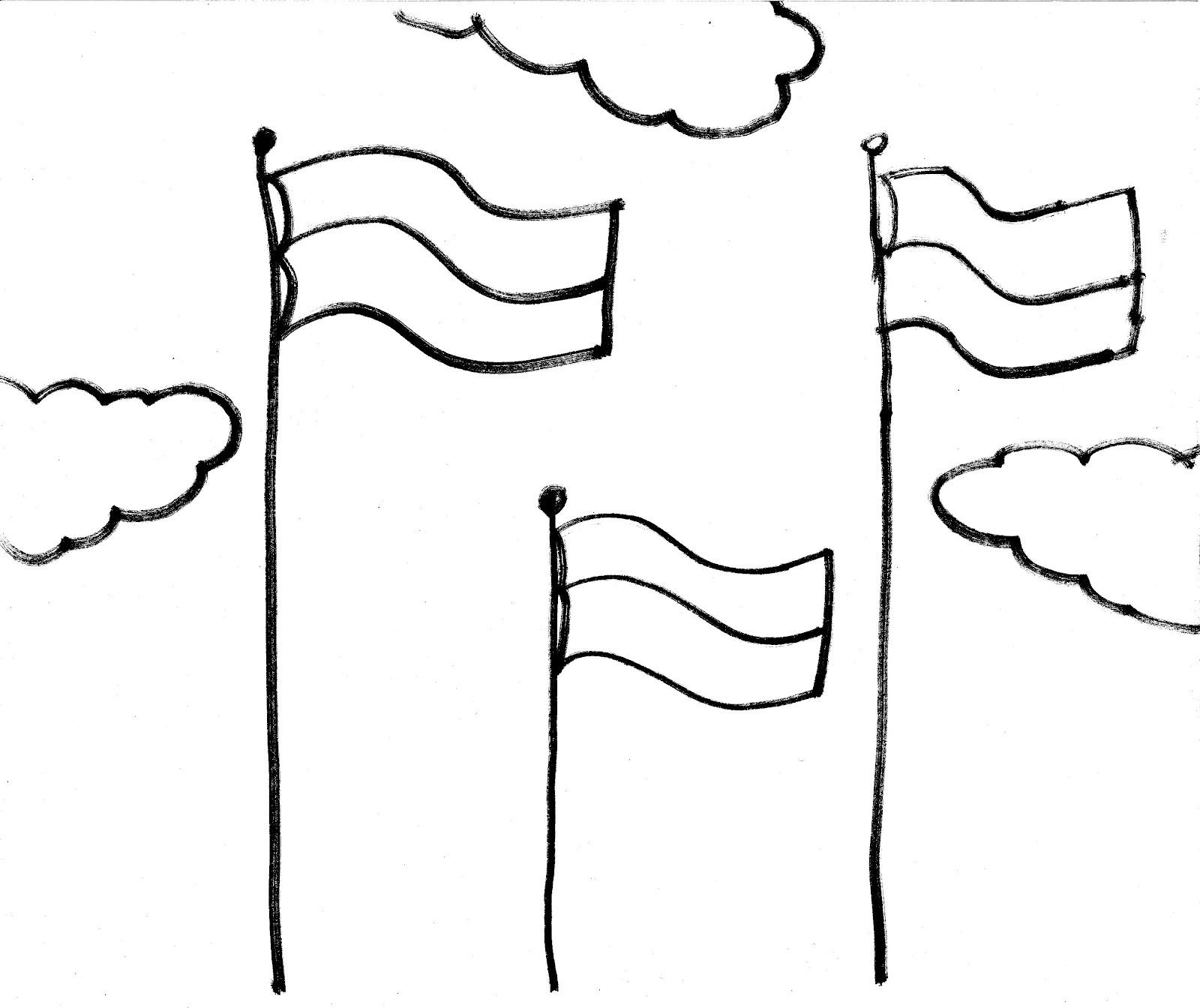 Gambar Bendera Merah Putih Untuk Diwarnai Agustusan ID