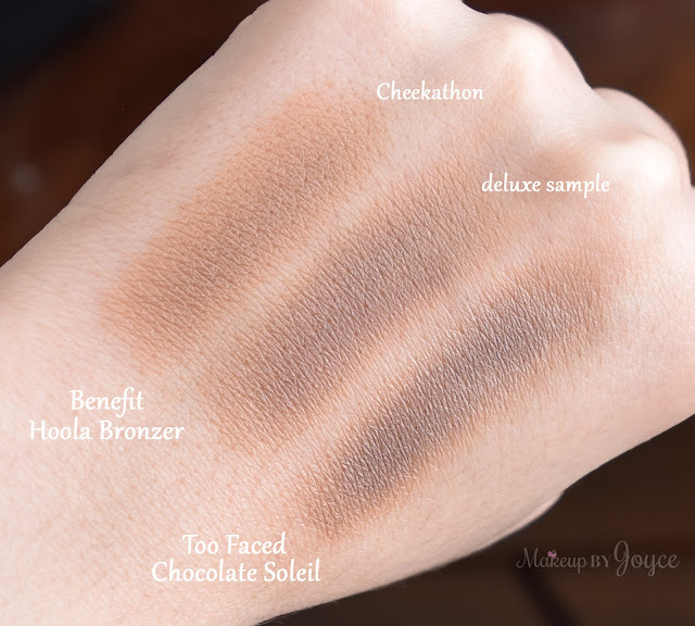 Too Faced Chocolate Soleil vs Benefit Hoola Matte Bronzer Dupe Comparison Swatches