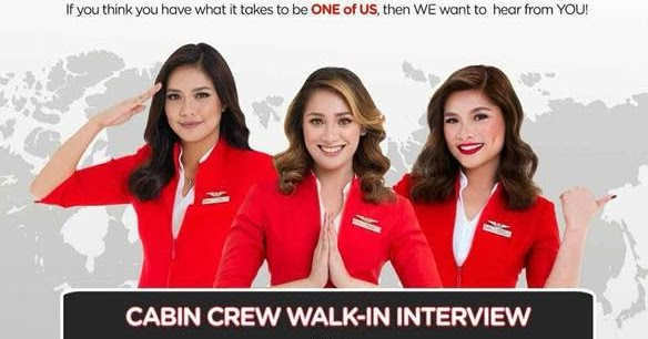 Fly gosh air asia cabin crew recruitment 2018 walk in for Cabin crew recruitment agency philippines