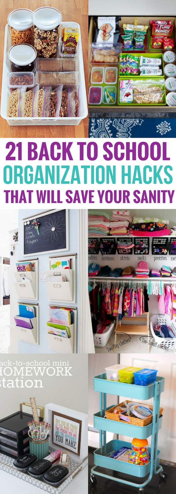 21 back to school organization hacks that will save your sanity craftsonfire - Back to school organization ...
