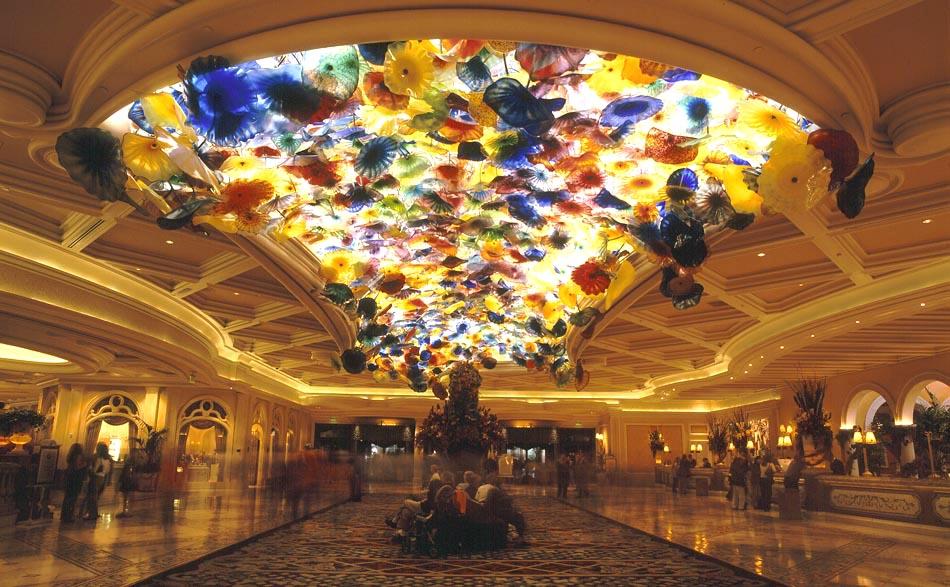 Las Vegas Bellagio - Lobby Ceiling | View on blog here ... |Las Vegas Bellagio Hotel Lobby