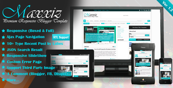 Download Free Maxxiz Blogger Template