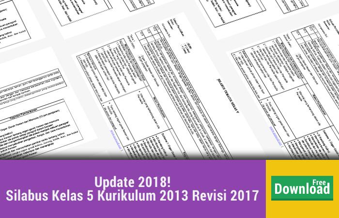 Silabus Kelas 5 Kurikulum 2013 Revisi 2017
