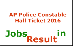 AP Police Constable Hall Ticket 2016