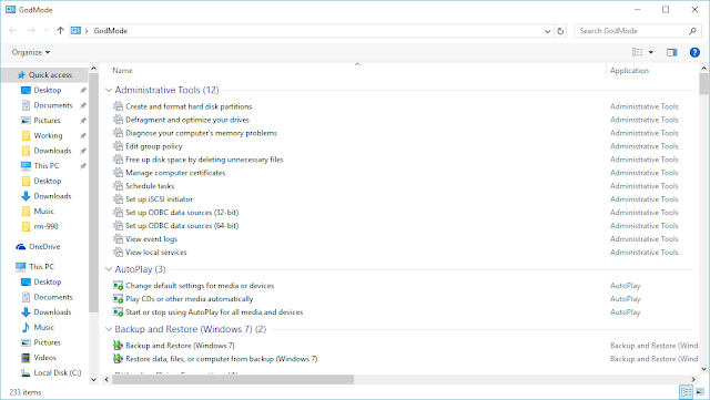 How to Activate 'God Mode' (All Settings) in Windows 10 2
