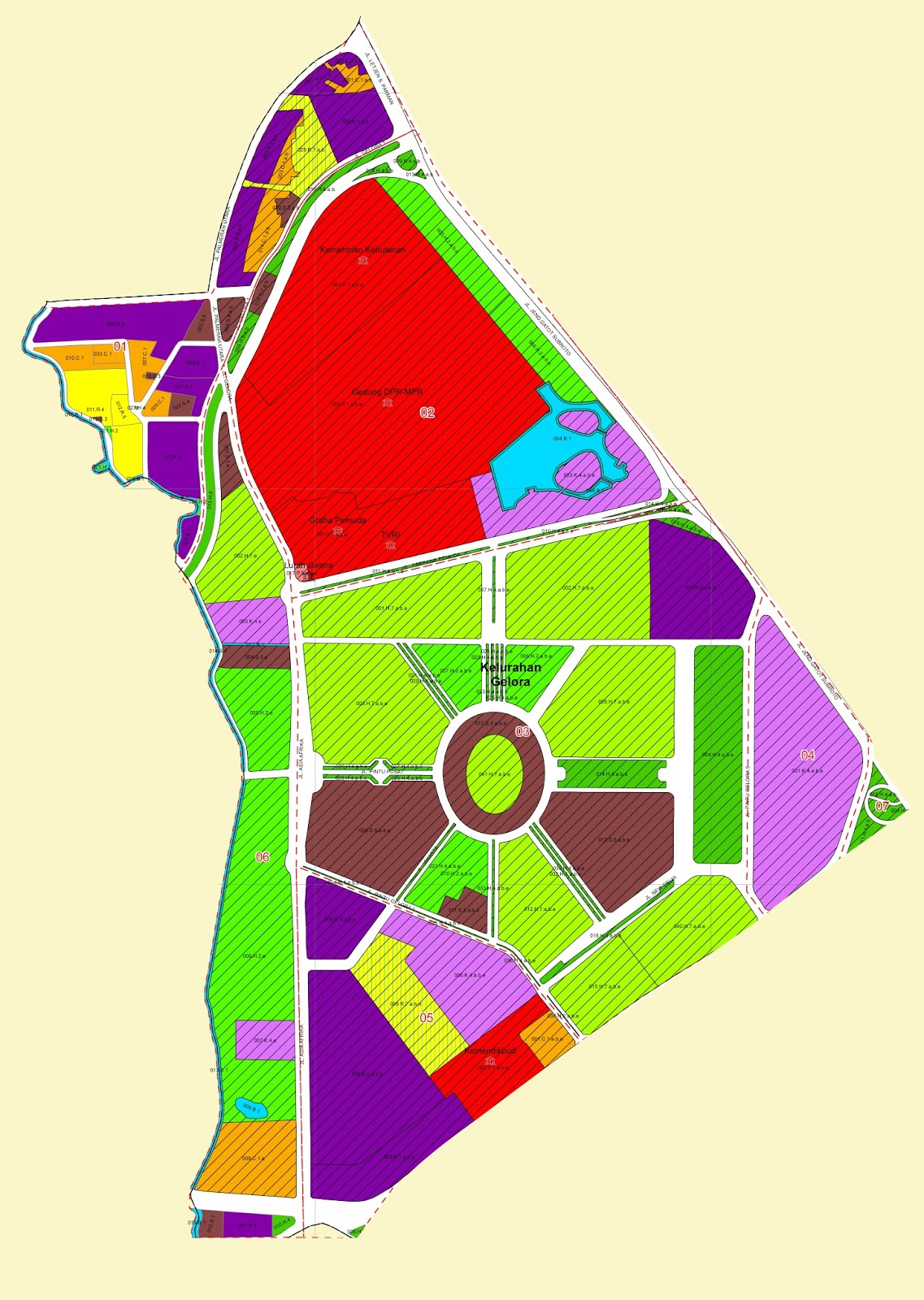 PTSP Gelora: Peta Zonasi Kelurahan Gelora