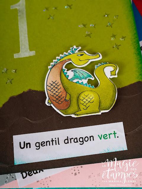 Album d'apprentissage pour enfants Stampin'Up! fait avec le jeu d'étampes Journée magique