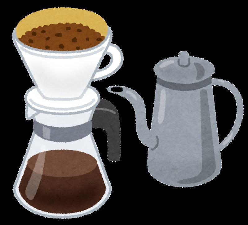 ペーパードリップ・ドリップコーヒーのイラスト | かわいいフリー素材集 いらすとや