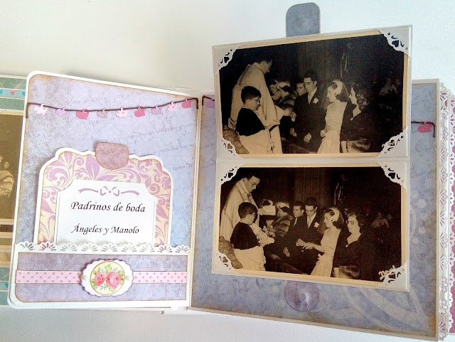 Álbum de boda con fotografías antiguas