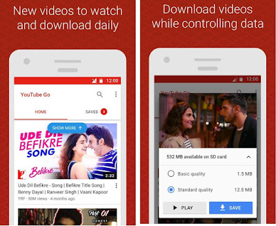 Youtube Go Android app - Watch, Download and Share Videos