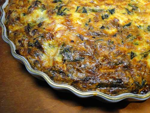 Veggie Quiche With Swiss Chard