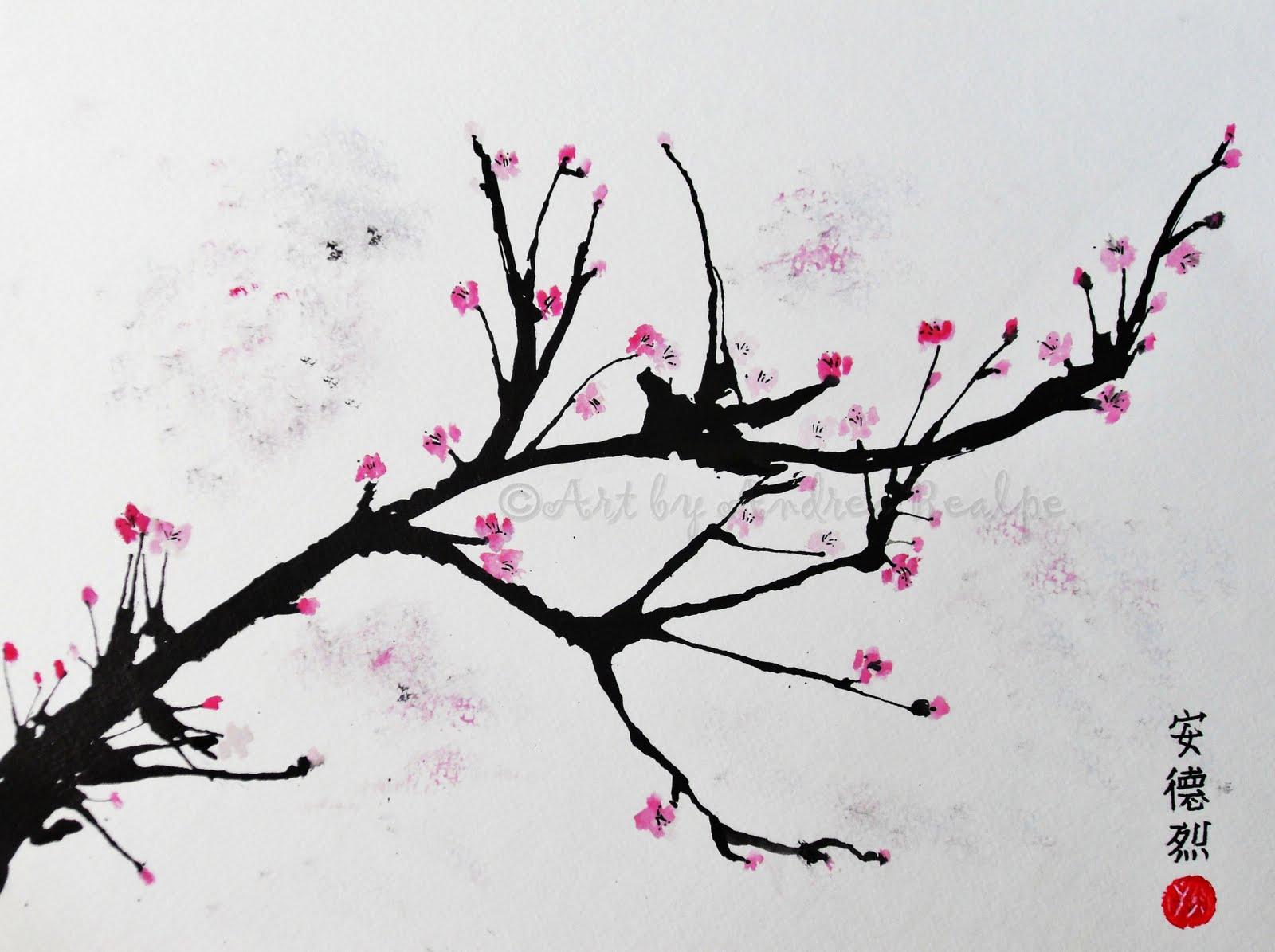 cherry blossom branch - photo #2