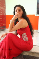 Actress Zahida Sam Latest Stills in Red Long Dress at Badragiri Movie Opening .COM 0138.JPG
