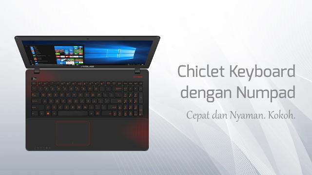 Chiclet Keyboard dan Numpad X550IK