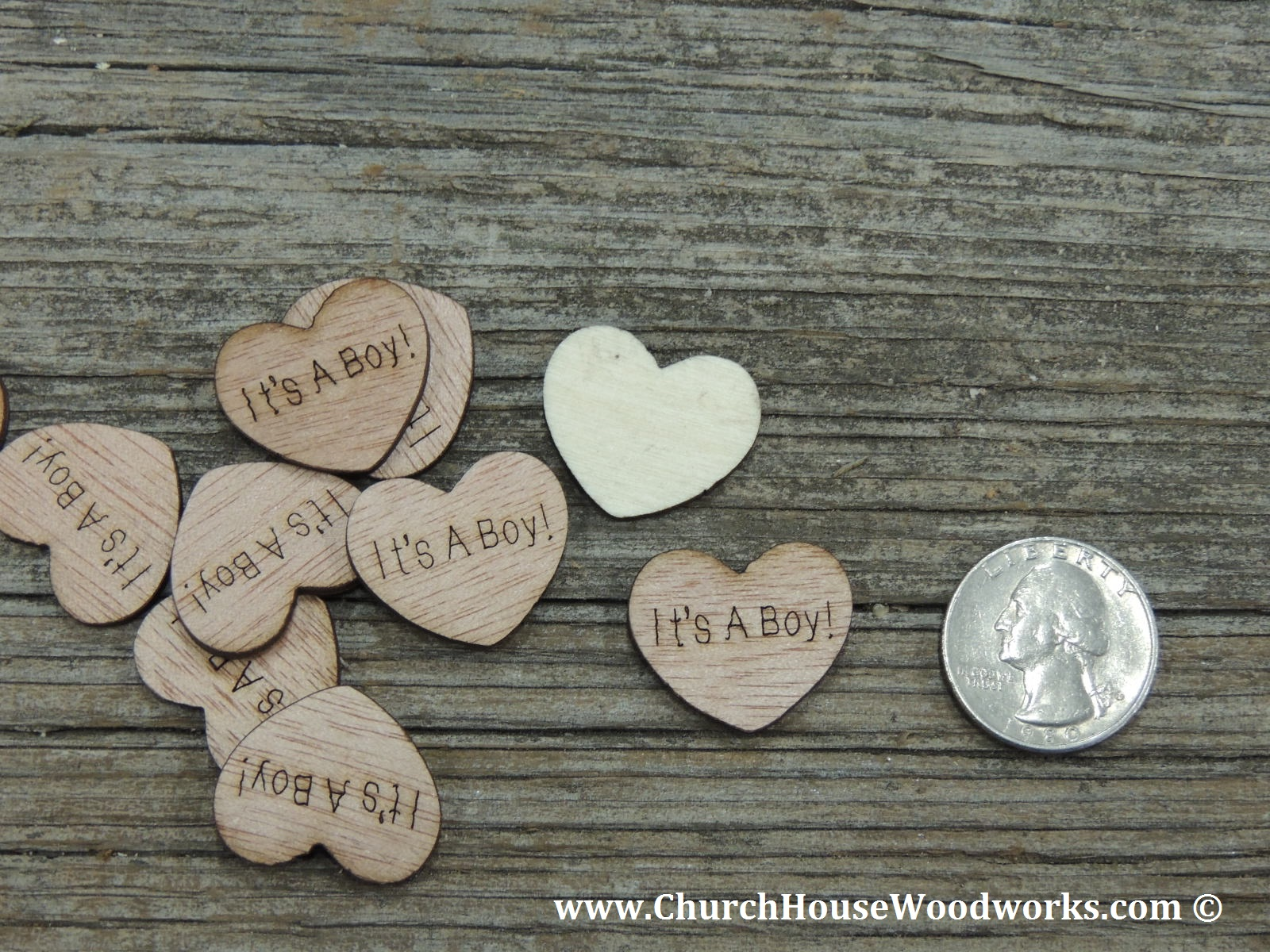 Its A Boy Wood Heart Confetti For Baby Showers Rustic Shower Ideas